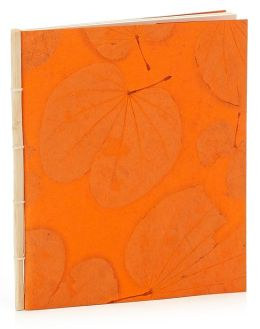 Orange Handmade Paper Blank Journal 7