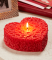Red Floral Scented Heart Shape Candle - 5""