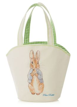 Peter Rabbit Canvas Green Gingham Small Tote 10