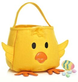 Easter Chick Yellow Felt Tote 11.5