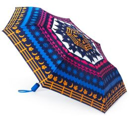 Jonathan Adler Seasons Folding Umbrella Navy 43'' Dia