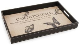 Carte Postale and Butterfly Wooden Tray 15.4