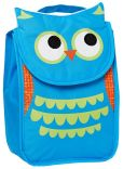 Product Image. Title: Critter Owl Flap Lunch Tote (9''x7''x4.75'')