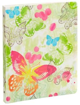 Watercolor Butterfly 3-Ring Binder 9'' x 12''