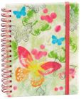 Product Image. Title: Watercolor Butterfly Wiro Journal 4'' x 6''