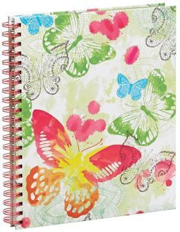 Watercolor Butterfly Spiral Bound Sketchbook 9'' x 11''