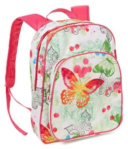 Watercolor Butterfly Large Backpack 17'' x 12'' x 7''