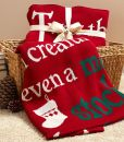 "Product Image. Title: Twas the Night Before Christmas 100% Cotton Knit Throw (50"" x 60"")"