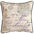 """Product Image. Title: Provence Script Cotton Blend Pillow 18"""" x 18"""""""