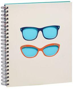 Glasses Spiral Sketchbook 8.5'' x 11''
