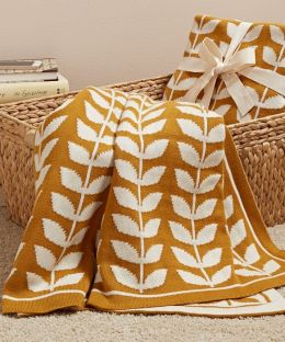 Harvest Leaves 100% Cotton Throw (50