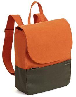 Slim Pack Canvas Brick Olive Backpack 13 x 2 x 12.5''