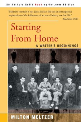 Starting from Home: A Writer's Beginnings