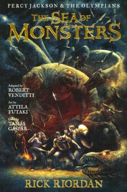 The Sea of Monsters: The Graphic Novel (Turtleback School & Library Binding Edition)