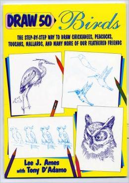 Draw 50 Birds (Turtleback School & Library Binding Edition)