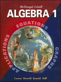 McDougal Littell High School Math: Student Edition Algebra 1 2004