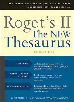 Roget's II The New Thesaurus, Third Edition