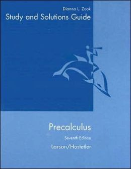 Student Solutions Guide for Larson/Hostetler, Precalculus, 7th