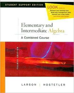 Elementary and Intermediate Algebra: A Combined Course, Student Support Edition