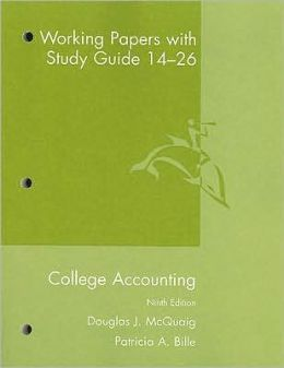 College Accounting Working Papers with Study Guide 14-26 9th Edition