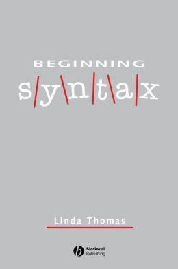 Beginning Syntax