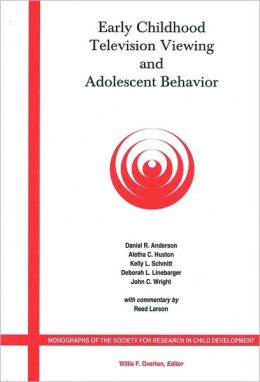 Early Childhood Television Viewing and Adolescent Behavior: Monographs of the Society for Research in Child Development