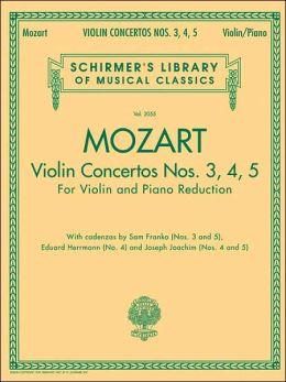 Three Violin Concertos Nos. 3, 4, 5: Violin and Piano