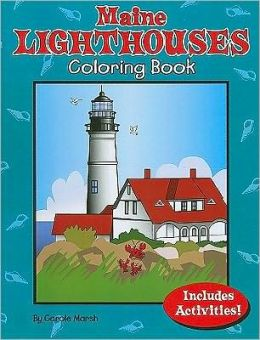 Maine Lighthouses Coloring and Activity Book