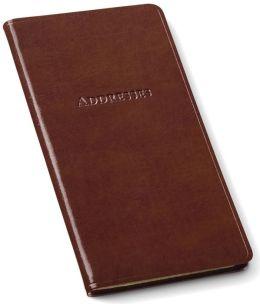 Brown Bonded Leather Pocket Address Book