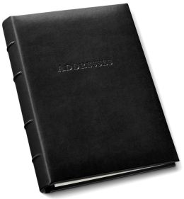 Black Gallery Bonded Leather Address Book 9x7