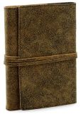 Product Image. Title: Distressed Brown Leather Journal (with Tie Fastener)
