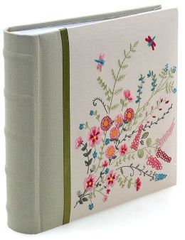 Floral Dragonfly Embroidered Photo Album 9x9