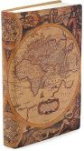 "Product Image. Title: Antique Map Printed Italian Leather Journal (6""x8"")"