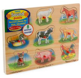 Farm Sound Peg Puzzle