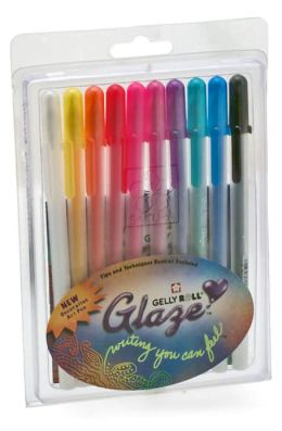 Gelly Roll Glaze Decorative Art Pens set of 10