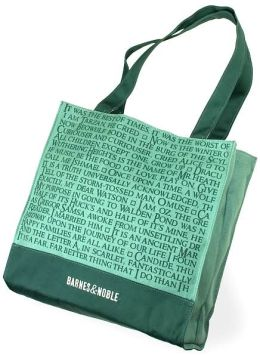 Barnes & Noble Quotes Green Canvas Tote Bag (14