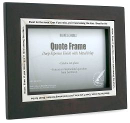 Espresso Wood Quote Frame 4x6