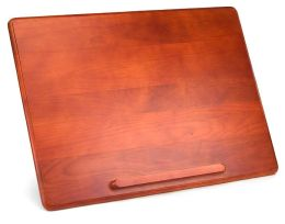 Maple Wood Lap Desk with Brown Embossed Pillow
