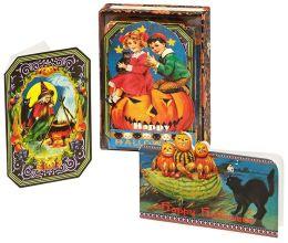 Halloween Ephemera Set of 24 Boxed Note Cards