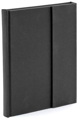 Black Texture Magnetic Wrap Journal 6x8