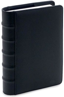 Black Textured Perpetual Journal lined 6x8