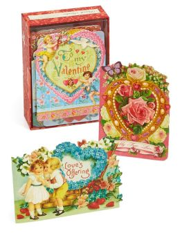 Assorted Ephemera Valentines Boxed Cards - Set of 24