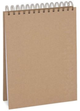 Kraft Embossed Top Spiral Sketchbook 10.25x7.25