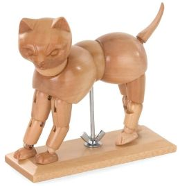 Wooden Cat Artist's Model