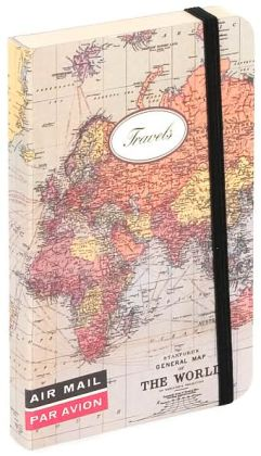 Mini World Map Travel Journal 4x6