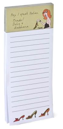 I Speak Italian Note Pad Magnetic