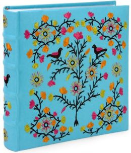 Tree of Life Blue Embroidered Photo Album