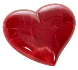 Absolute Red Heart Italian Alabaster Paperweight