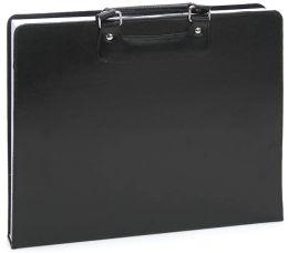 Black Bonded Leather Sketch Portfolio with Sketchbook 16 x 11.7