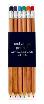 Mechanical Pencils with Colored Leads set of 6